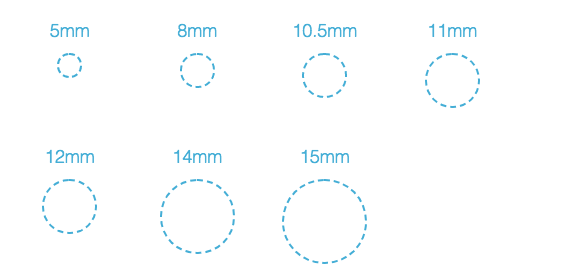 Amniotic Patch Sizes for ocular treatment